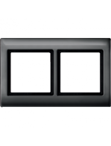Merten Aquadesign MTN400214 - Plaques de finition Aquadesign à vis, 2 postes, anthracite , Schneider Electric