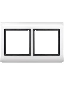 Merten Aquadesign MTN400219 - Aquadesign - plaque de finition standard - 2 postes - blanc , Schneider Electric