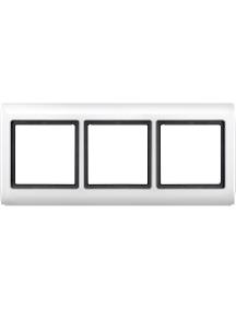 Merten Aquadesign MTN400319 - Aquadesign - plaque de finition standard - 3 postes - blanc , Schneider Electric