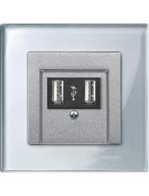 MTN4010-3260 - M-Plan Verre Diamant, plaque de finition 1 poste , Schneider Electric