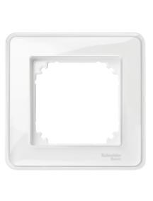 MTN4010-3500 - System M, M-Creativ 1-gang frame, transparent, glossy , Schneider Electric
