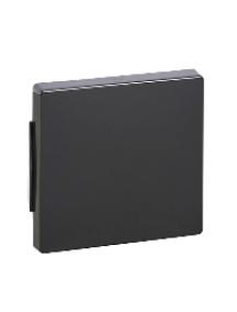 Merten Aquadesign MTN401114 - Plaques de finition Aquadesign standard, 1 poste, anthracite , Schneider Electric