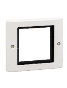 Merten Aquadesign MTN401119 - Aquadesign - plaque de finition à vis - 1 poste - blanc , Schneider Electric