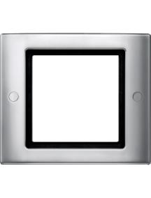 Merten Aquadesign MTN401160 - Aquadesign - plaque de finition à vis - 1 poste - aluminium , Schneider Electric