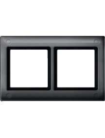 Merten Aquadesign MTN401214 - Plaques de finition Aquadesign standard, 2 postes, anthracite , Schneider Electric