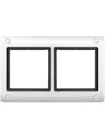Merten Aquadesign MTN401219 - Aquadesign - plaque de finition à vis - 2 postes - blanc , Schneider Electric