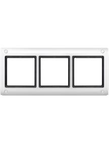 Merten Aquadesign MTN401319 - Aquadesign - plaque de finition à vis - 3 postes - blanc , Schneider Electric
