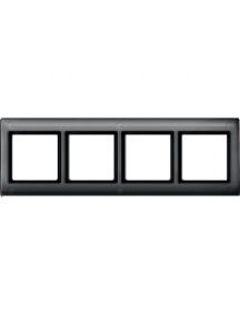 Merten Aquadesign MTN401414 - Plaques de finition Aquadesign standard, 4 postes, anthracite , Schneider Electric