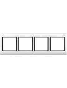 Merten Aquadesign MTN401419 - Plaques de finition Aquadesign standard, 4 postes, blanc , Schneider Electric