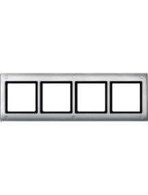 Merten Aquadesign MTN401460 - Plaques de finition Aquadesign standard, 4 postes, aluminium , Schneider Electric