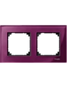 MTN4020-3206 - M-Plan - plaque de finition - 2 postes - verre rubis , Schneider Electric