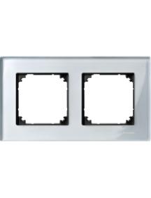 MTN4020-3260 - M-Plan Verre Diamant, plaque de finition 2 postes horiz. ou vert. entraxe 71mm , Schneider Electric