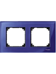 MTN4020-3278 - M-Plan - plaque de finition - 2 postes - verre saphir , Schneider Electric