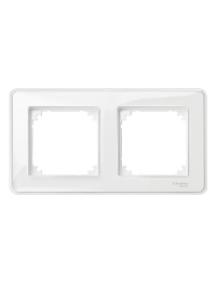 MTN4020-3500 - System M, M-Creativ 2-gang frame, transparent, glossy , Schneider Electric