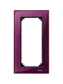 MTN4025-3206 - M-Plan - plaque de finition pour prise rasoir - verre rubis , Schneider Electric