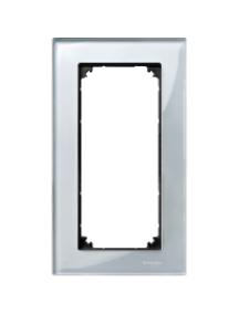 MTN4025-3260 - M-Plan Verre Diamant plaque de finition double (prise rasoir) vertical , Schneider Electric