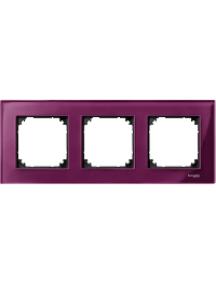 MTN4030-3206 - M-Plan - plaque de finition - 3 postes - verre rubis , Schneider Electric