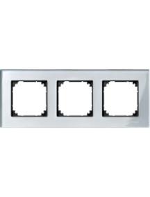 MTN4030-3260 - M-Plan Verre Diamant, plaque de finition 3 postes horiz. ou vert. entraxe 71mm , Schneider Electric