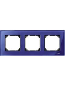 MTN4030-3278 - M-Plan - plaque de finition - 3 postes - verre saphir , Schneider Electric