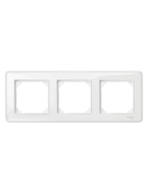 MTN4030-3500 - System M, M-Creativ 3-gang frame, transparent, glossy , Schneider Electric