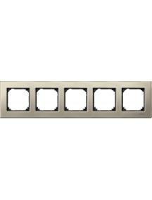 MTN403505 - Metal frame, 5-gang, Titanium, M-Elegance , Schneider Electric