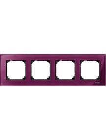MTN4040-3206 - M-Plan - plaque de finition - 4 postes - verre rubis , Schneider Electric