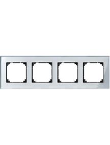 MTN4040-3260 - M-Plan - plaque de finition - 4 postes - verre diamant , Schneider Electric
