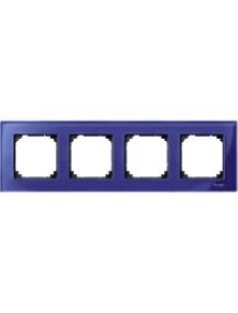 MTN4040-3278 - M-Plan - plaque de finition - 4 postes - verre saphir , Schneider Electric