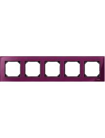 MTN4050-3206 - Real glass frame, 5-gang, Ruby red, M-Elegance , Schneider Electric