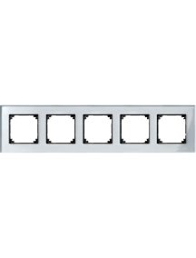MTN4050-3260 - Real glass frame, 5-gang, Diamond silver, M-Elegance , Schneider Electric