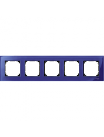MTN4050-3278 - Real glass frame, 5-gang, Sapphire blue, M-Elegance , Schneider Electric