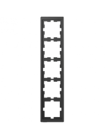 MTN4050-6534 - D-Life frame, 5-gang, anthracite , Schneider Electric