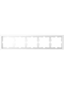 MTN4050-6535 - D-Life frame, 5-gang, lotus white , Schneider Electric