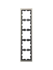 MTN4050-6550 - D-Life metal frame, 5-gang, nickel metallic , Schneider Electric
