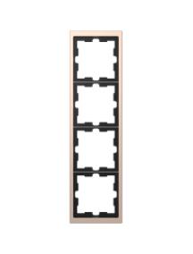 MTN4050-6551 - D-Life metal frame, 5-gang, champagne metallic , Schneider Electric