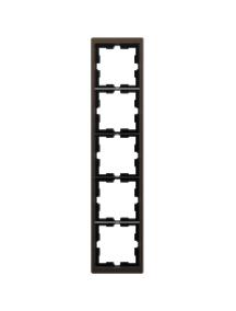 MTN4050-6552 - D-Life metal frame, 5-gang, mocca metallic , Schneider Electric