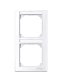 MTN470225 - M-Smart frame, 2-gng w. label.bracket, vertical installation, active wht, glossy , Schneider Electric