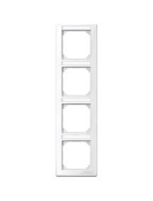 MTN470419 - M-Smart frame, 4-gng w. label.bracket, vertical installation, pol. wht., glossy , Schneider Electric