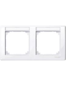 MTN471225 - M-Smart frame, 2-gng w. label.bracket, horizontal installation, act. wht, glossy , Schneider Electric