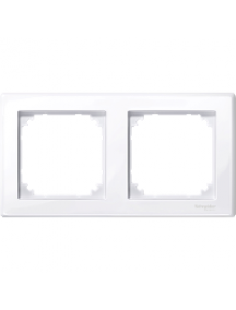 MTN478225 - M-Smart frame, 2-gang, active white, glossy , Schneider Electric