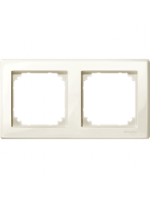 MTN478244 - M-Smart frame, 2-gang, white, glossy , Schneider Electric