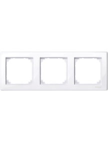MTN478325 - M-Smart frame, 3-gang, active white, glossy , Schneider Electric