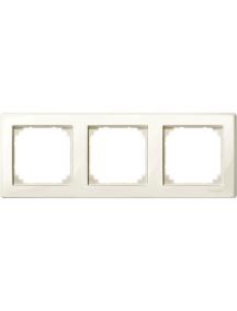 MTN478344 - M-Smart frame, 3-gang, white, glossy , Schneider Electric