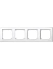 MTN478419 - M-Smart frame, 4-gang, polar white, glossy , Schneider Electric