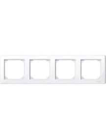 MTN478425 - M-Smart frame, 4-gang, active white, glossy , Schneider Electric