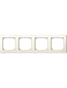 MTN478444 - M-Smart frame, 4-gang, white, glossy , Schneider Electric