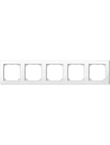 MTN478519 - M-Smart frame, 5-gang, polar white, glossy , Schneider Electric