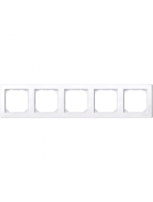 MTN478525 - M-Smart frame, 5-gang, active white, glossy , Schneider Electric
