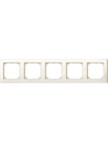 MTN478544 - M-Smart frame, 5-gang, white, glossy , Schneider Electric