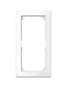 MTN478825 - M-Smart frame, 2-gang without central bridge piece, active white, glossy , Schneider Electric